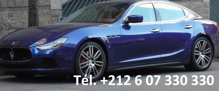 Location Maserati Ghibli Rabat