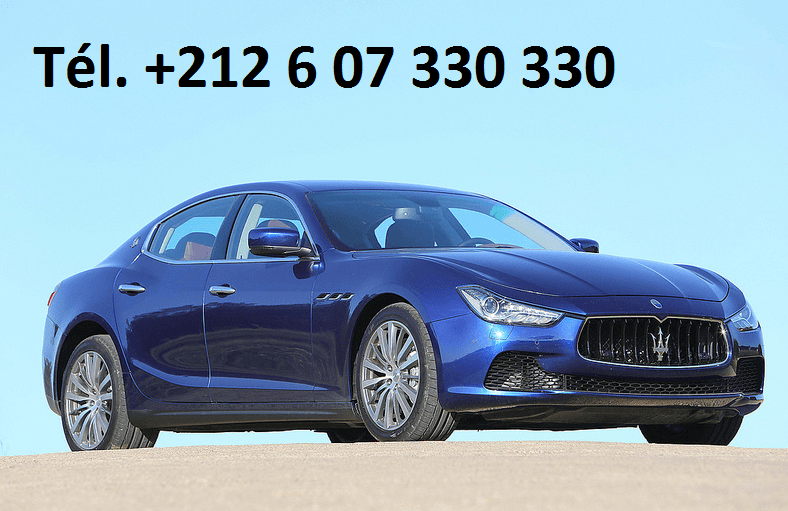 Location Maserati Ghibli Tanger