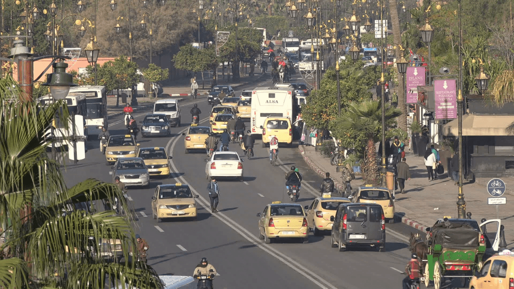 traffic embouteillage a marrakech