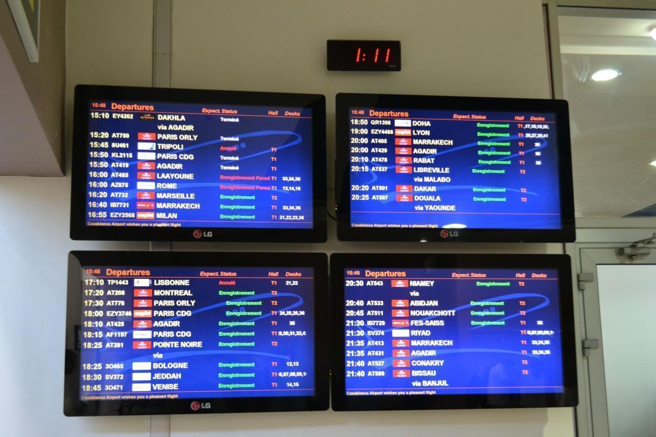 casablanca depart aeroport