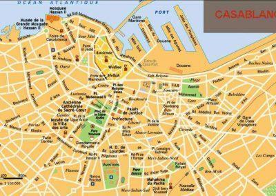 carte casablanca map